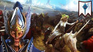 OF KNIGHTS AND DRAGONS - High Elves vs. Bretonnia - Total War Warhammer 2