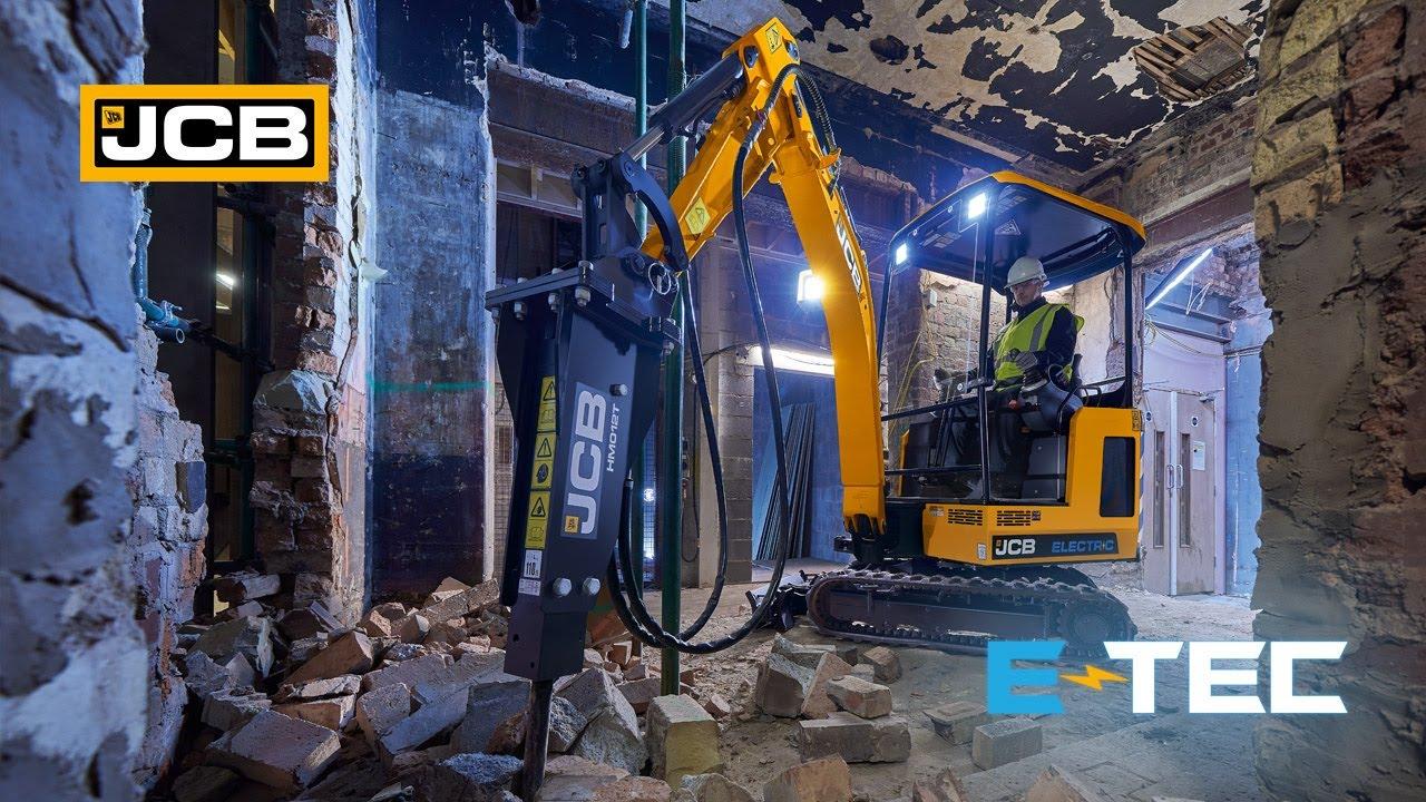 JCB E-TECH Electric Mini Excavator at Work