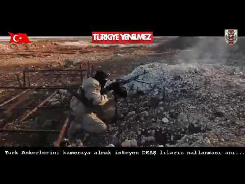 Turkish Soldier SHOOTS HOW -  Watch from their own ISIS TERRORİST CAMERA