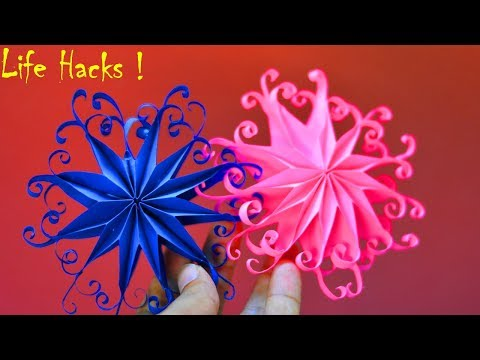 DIY 3D QUILLING PAPER SNOWFLAKES || CHRISTMAS TREE ORNAMENTS