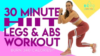 30 Minute HIIT Legs and Abs Workout 🔥Burn 340 Calories! 🔥 Day 50/90