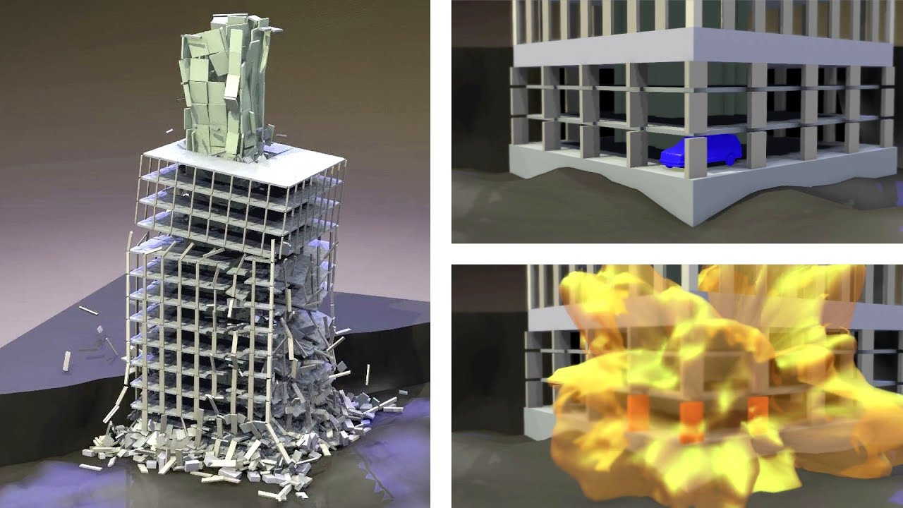 Collapse Simulation 1 of a HighRise Building Exposed to
