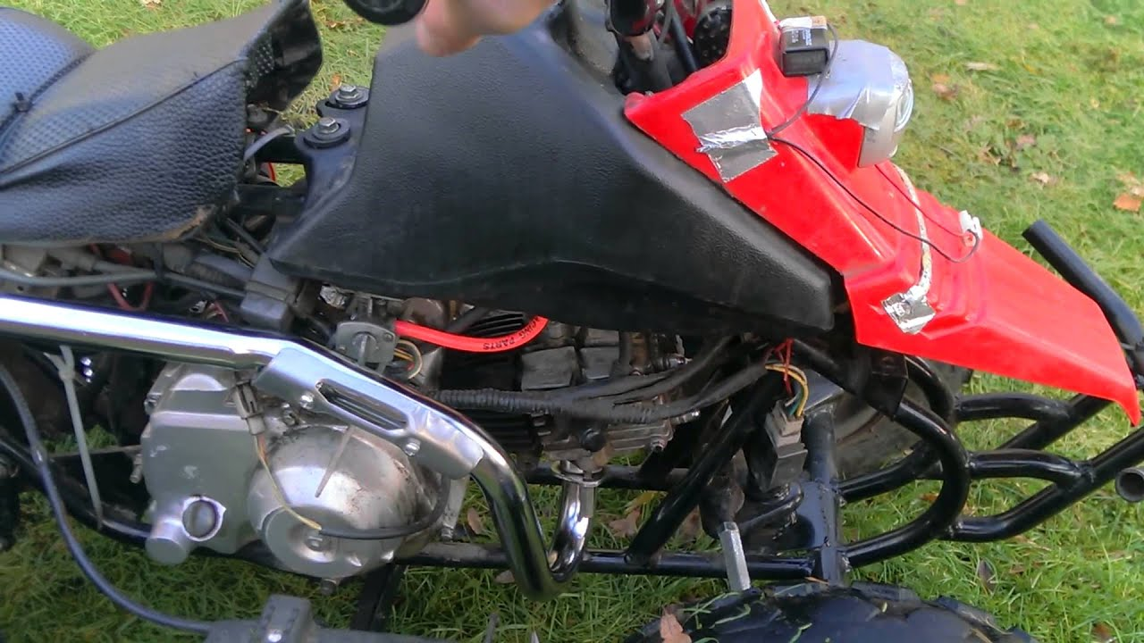 kazuma 49cc quad wiring diagram 1966 corvette dash 50cc tuned youtube