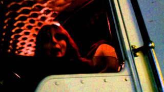 LADY TRUCKER PULLING TANKER