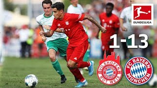 Coutinho's first Goal for Bayern | FC Bayern München 13-1 Vilshofen | Highlights