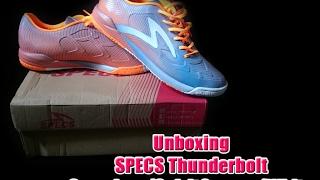 Unboxing sepatu futsal Specs Thunderbolt (Squadron/Spirit Orange/White)