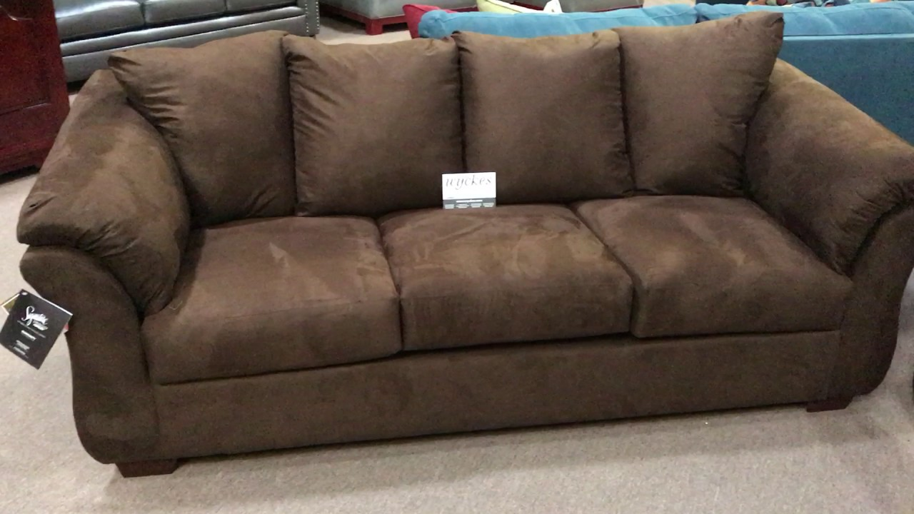 Attirant Ashley Furniture Darcy 7500 Flared Pillowtop Arm Sofa Loveseat Set