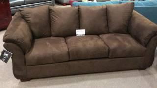 Ashley Furniture Darcy 7500 Flared Pillowtop Arm Sofa Loveseat Set
