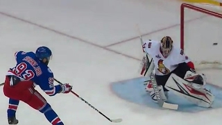 Zibanejad snipes one past Anderson to get Rangers on board