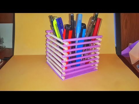 Amazing pen stand with paper , Creative ideas , Playground Slide ,Diy, How to make origami , Origami