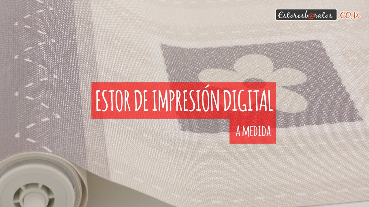 Instalaci n de estor impresi n digital a medida youtube - Estoresbaratos com ...