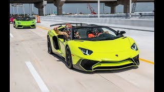 Lamborghini VS Lamborghini 100+ Lambos BLASTING From Lamborghini Miami BullFest 2019
