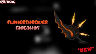 GIVING AWAY A BRAND NEW KNIFE IN THE GAME?! 'FLAMETHROWER GIVEAWAYMD ' (ROBLOX ASSASSIN MYTHIC KNIFE)