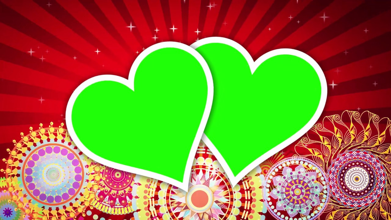 Footlights Background Video Effects Hd: Wedding Frame Green Background Video Effects HD