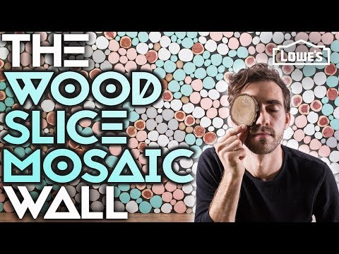 THE WOOD SLICE MOSAIC WALL /// Experiment #005