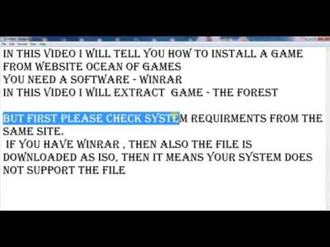 How to install a game from ocean of games