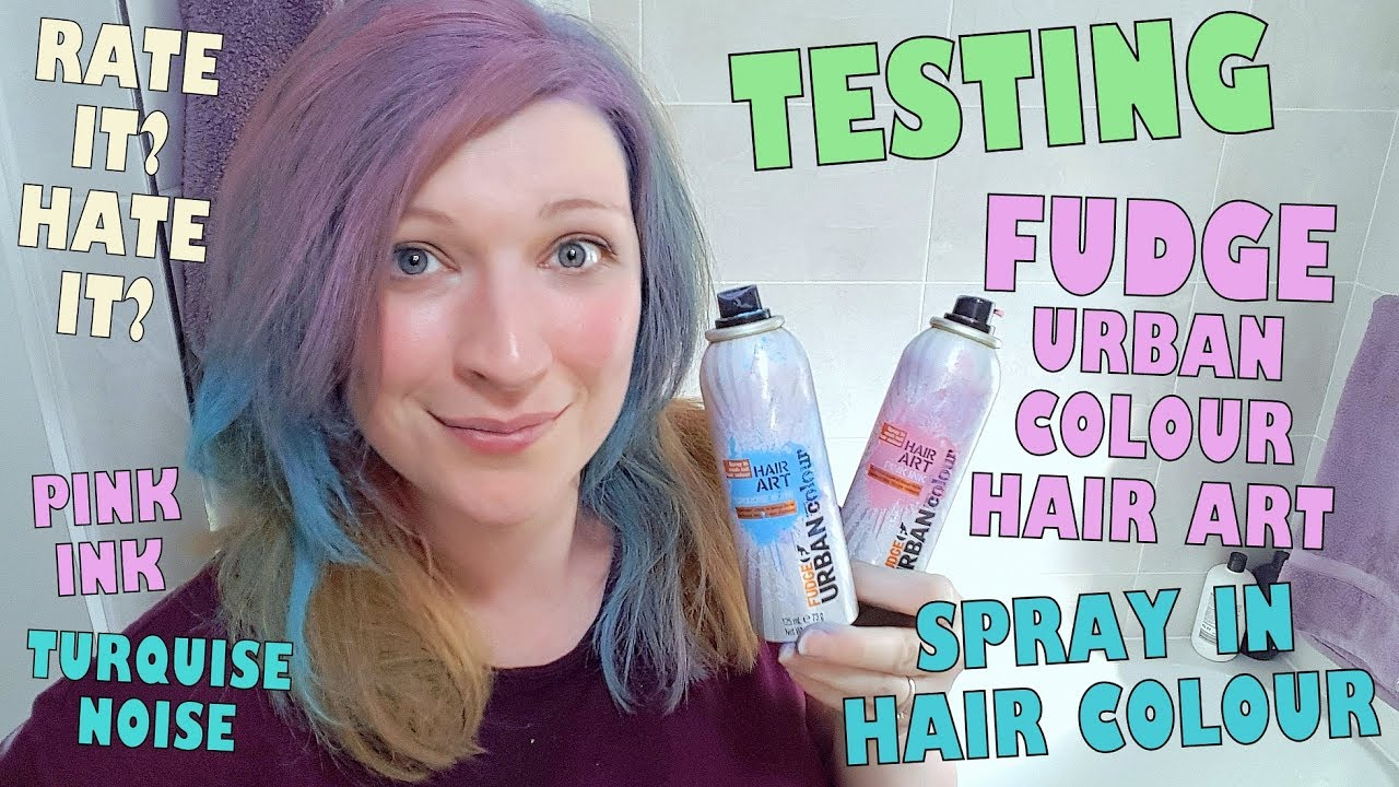 Testing Fudge Urban Colour Hair Art Spray In Hair Dye Pink Ink