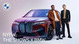 homepage tile video photo for NYFW & BMW: Christian Cowan     Victor Cruz   The All-Electric BMW iX
