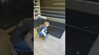 How To Easily M๐ve 100# Stall Mats #shorts