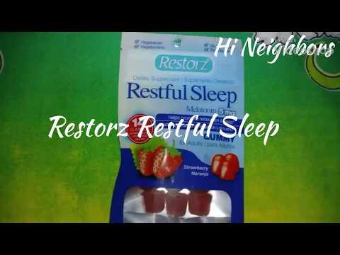 Restorz Restful Sleep With Melatonin Gummy Review 😪 😴 😪 😴