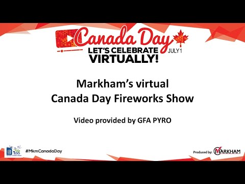 Markham's Virtual Canada Day Fireworks Show