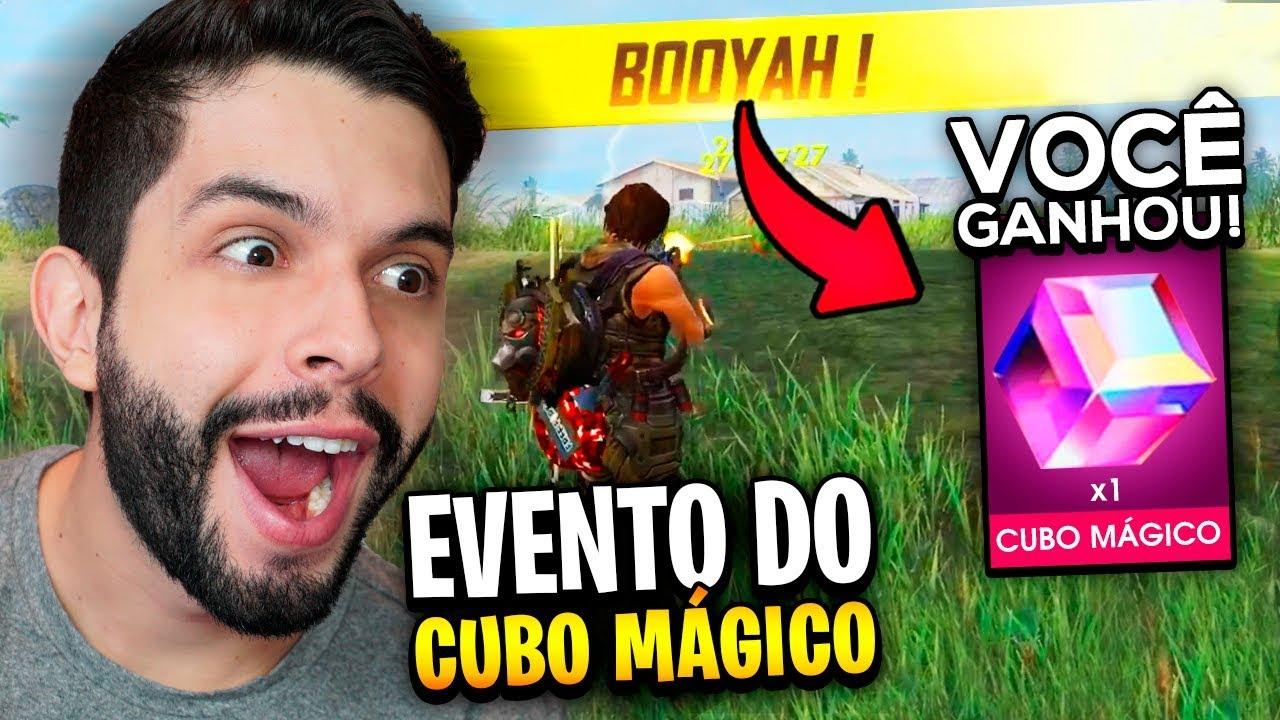 PLAYHARD - JOGUEI 8 HORAS EM BUSCA DO CUBO MÁGICO GRÁTIS DO FREE FIRE!!