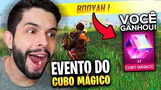 JOGUEI 8 HORAS EM BUSCA DO CUBO MÁGICO GRÁTIS DO FREE FIRE!!