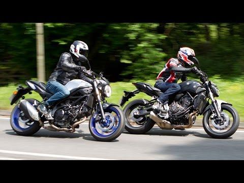 Yamaha MT-07 vs Suzuki SV650 Review Motorcycle Road Test