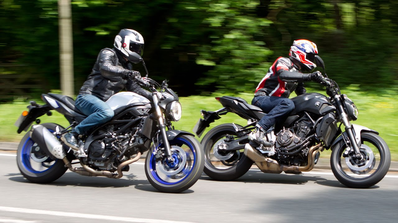 Yamaha MT-07 vs Suzuki SV650 Review Motorcycle Road Test ...