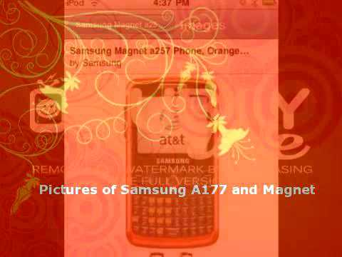 Pictures of Samsung A177 and Magnet