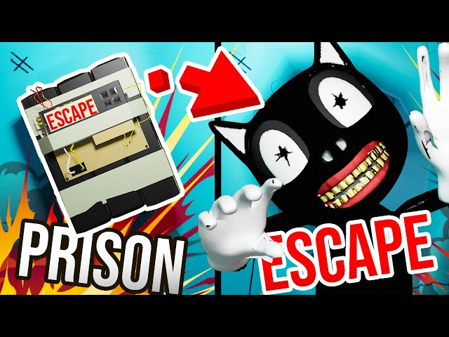 Escaping CARTOON CAT PRISON with BENDY'S SECRET BOMB!!?! (Prison Boss Bendy BATIM VR)