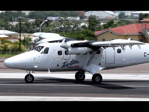 NEW !!! Twin Otter 400 series flight in St Kitts (HD 1080p)
