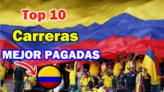 Top 10 University Careers BEST PAID In Colombia | Curious fact