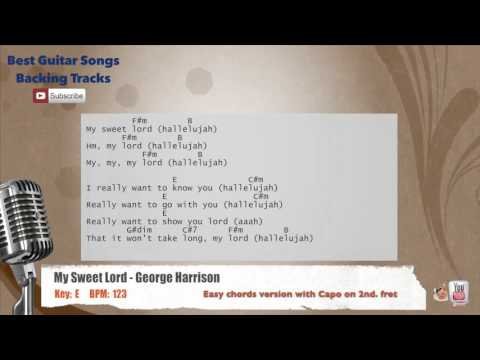 My Sweet Lord - George Harrison Vocal Backing Track with chords and lyrics