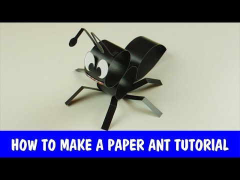 How to Make a Paper Ant - tutorial