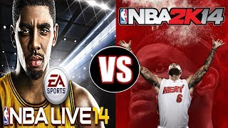 NBA Live 14 vs NBA 2K14 Next Gen Gameplay Review | PS4 Gameplay