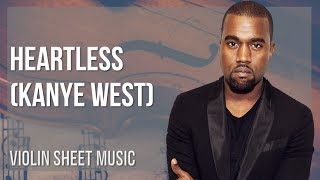 EASY Violin Sheet Music: How to play Heartless by Kanye West