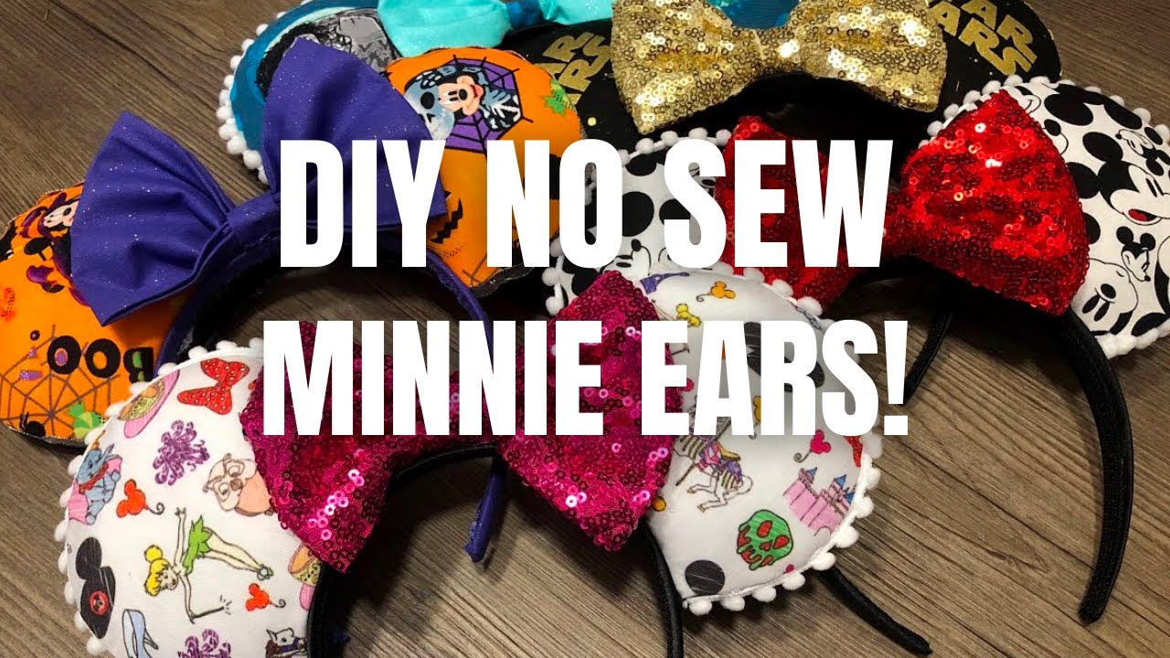 How To Disney Diy No Sew Minnie Mouse Ears