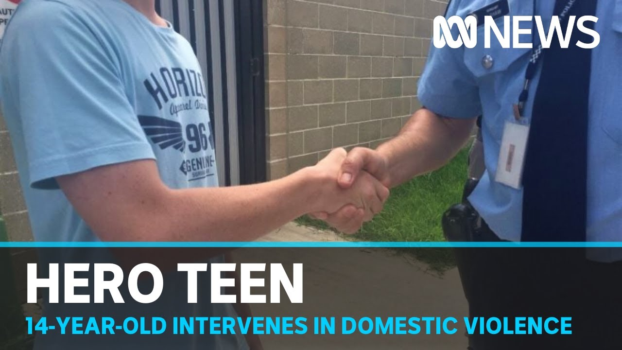 Police praise teen who stopped alleged domestic violence attack | ABC News