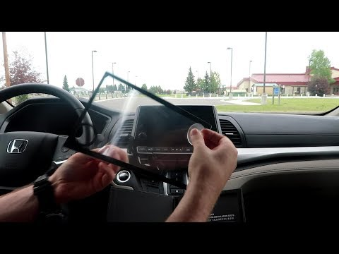 How to install Honda Odyssey Screen Protector