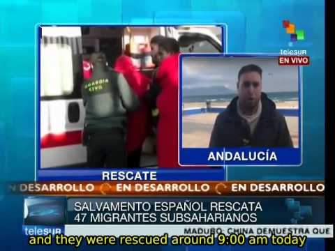 47 Sub-Saharan migrants rescued in the Strait of Gibraltar