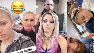 WWE's Mojo Rawley CREEPING on Alexa Bliss | Funny Instagram/Snapchat Moments