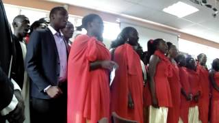 Makerere presentation During the launch of Ushuhuda Tosha album by the St. Pauls Students choir UON