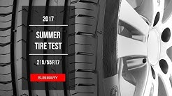 2017 SUMMER TIRE TEST RESULTS - 215/55 R17