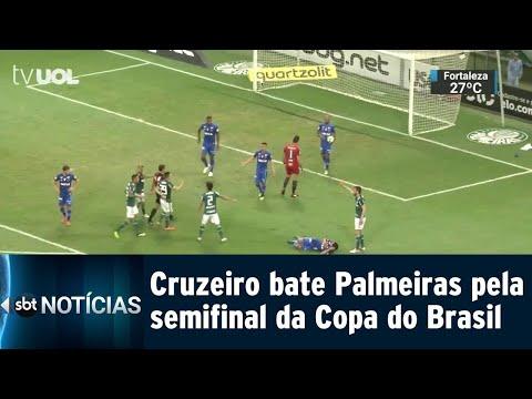 Cruzeiro surpreende Palmeiras em casa e abre vantagem na semifinal | SBT Notícias (13/09/18)