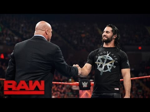 Kurt Angle reveals Seth Rollins' fate: Raw, April 10, 2017