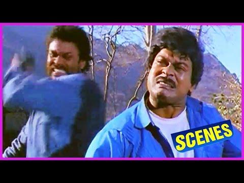Chiranjeevi Fight With Nagababu - Kondaveeti Donga Movie Scene