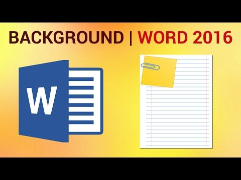 How to change the page background color in microsoft word