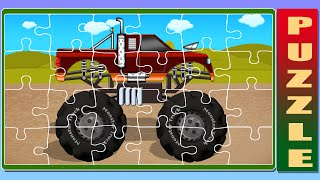 Puzzle Monster Truck | Puzzle Videos For Kids