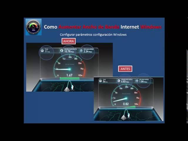Como Aumentar la Velocidad Internet subiendo el Ancho de Banda
